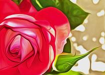 Red Rose (Digital Art) von John Wain