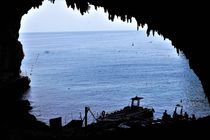Blick aus der Höhle von karneol