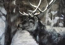 Hirsch im Schnee, deer  by Thomas Neumann