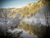 Die Donau bei Beuron im Winter - Naturpark Obere Donau von Christine Horn