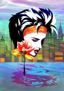 Metropolis Nostalgia Vaporwave Art  by bluedarkart-lem
