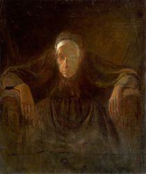 Study of old woman, Laszlo Mednyanszky 1881 von Vincent Monozlay