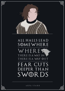 Arya Stark - Minimalist Quote Poster by mequem design