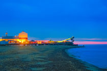 Great Yarmouth beach at Night by Vincent J. Newman