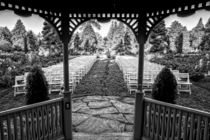 Gazebo Looking out at Chairs in Row by Jim Corwin