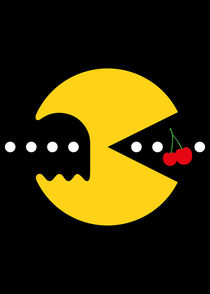 Pacman - Minimalist Game by mequem design
