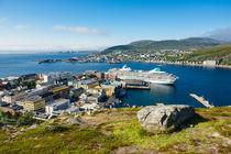 Blick auf Hammerfest in Norwegen by Rico Ködder