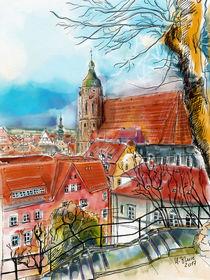 Pirna, Blick zur Marienkirche by Hartmut Buse