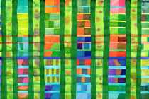 Colored Fields with Bamboo  by Heidi  Capitaine