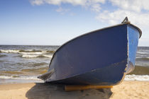 Old blue boat by Aleksandr Mayorov