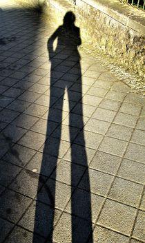 Schattenbild, langer Schatten von assy