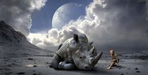 The last of the rhino by past-presence-art