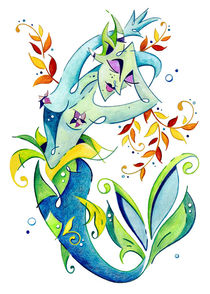 Meerjungfrau Art Design - Fantasy Illustration by nacasona
