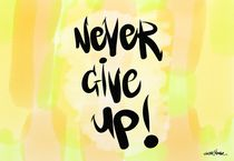 Never Give Up! by Vincent J. Newman
