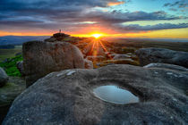 Stanage Edge sunset by chris-drabble