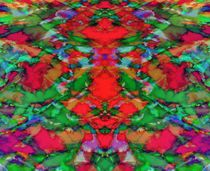 Interlocking ghosts red by Keith Mills