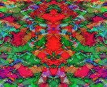 Interlocking ghosts red von Keith Mills
