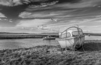 Boats at Penclawdd Estuary. by Steve Evans