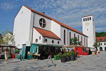 Münchner Jakobsweg: Kirche in Starnberg... by loewenherz-artwork