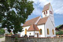 Münchner Jakobsweg: Kirche in Aschering... von loewenherz-artwork