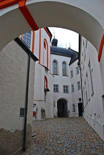 Münchner Jakobsweg: Innenhof Kloster Andechs... von loewenherz-artwork