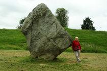 One Stone of the Avebury Stonecircle by Sabine Radtke