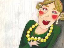 Dame mit Perlenkette by Evi Gasser