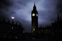 Ghostly Big Ben by Ioana Epure