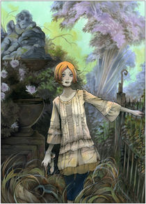 Soledad in the Abandoned Garden by Natalia Pierandrei