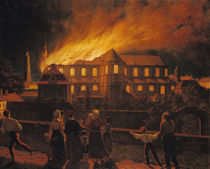 Fire at Cambrai Cathedral by Abel Berger
