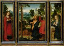 Triptych with St. Jerome von Adriaen Isenbrandt or Isenbrant