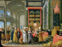 King Solomon and the Queen of Sheba  von Adriaen van Stalbemt