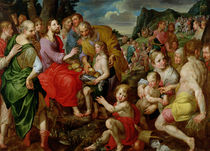 The Feeding of the Five Thousand  by Ambrosius the Elder Francken