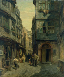 The Jewish Quarter in Frankfurt by Anton Burger