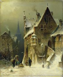 A Small Town in the Rhine  by August Schlieker