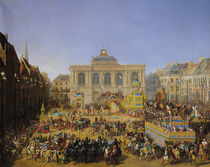 The Kermesse at Saint-Omer in 1846  by Auguste Jacques Regnier