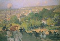 Balloon Landing at Pre St-Gervais von Auguste Lepere