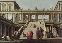 Castle Courtyard by Bernardo Belotto Canaletto