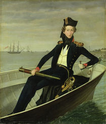 Portrait of a Young Danish Naval Officer von Bernhard Axel Bendixen
