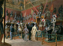 The first Armoury Room of the Ambraser Gallery in the Lower Belvedere von Carl Goebel