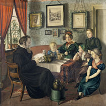 Pastor Johann Wilhelm Rautenberg and his Family by Carl Julius Milde