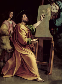 St. Luke Painting the Virgin  von Sanzio of Urbino Raphael