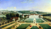 Chateau of Charles Guillaume Le Normant by Charles Laurent Grevenbroeck