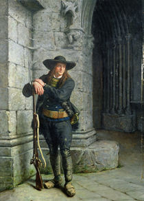 Armed Breton Guarding a Porch  by Charles Loyeux