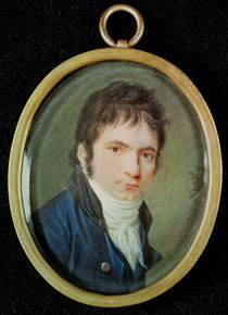 Miniature Portrait of Ludwig Van Beethoven  by Christian Hornemann
