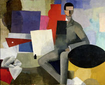 The Seated Man von Roger de La Fresnaye