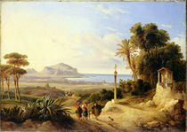 View of Palermo by Consalvo Carelli