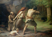 Prehistoric Man Hunting Bears by Emmanuel Benner
