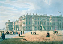 The Winter Palace as seen from Palace Passage by Ferdinand Victor Perrot