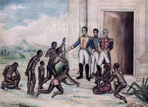 Liberation of Slaves by Simon Bolivar  by Fernandez Luis Cancino